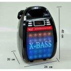 Колонка комбік Bluetooth mp3 радіомікрофон пульт світломузика Golon RX-810 BT, акустика, для дому, природи, портативна, чорна - зображення 1