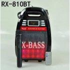 Колонка комбік Bluetooth mp3 радіомікрофон пульт світломузика Golon RX-810 BT, акустика, для дому, природи, портативна, чорна - зображення 5