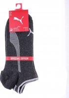 Носки Puma Sneakers 2P Unisex Promo 101050001-003 43-46 2 пары Серый/Чёрный (8718824797557) - изображение 2