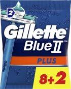 Одноразовые станки для бритья (Бритвы) мужские Gillette Blue 2 Plus 10 шт (7702018467600) - изображение 1