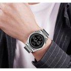 Годинники чоловічі Skmei Impact з металевим браслетом і будильником + підсвітка Сріблястий - зображення 5