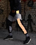 Спортивные штаны Пушка Огонь Split черно-белые с рефлективом XS - изображение 3