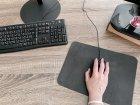 Коврик для мыши кожаный Locoronto Серый 190х250 мм - изображение 4