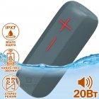 Портативная USB колонка Hopestar P15 Pro влагозащищенная с Bluetooth - громкий звук и бас - Переносная акустическая система + мощный громкоговоритель с встроенным микрофоном - micro SD + TWS + FM-радио, Синий - изображение 1