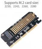 Адаптер Maiwo M.2 NVMe M-key SSD to PCI-E 3.0 16x / 8x / 4x (KT046) - зображення 3