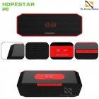 Переносная Колонка Hopestar P8 USB влагозащищенная Bluetooth и функцией громкой связи - Портативная акустическая система с хорошим звучанием и басом - Акустика с функцией PowerBank + AUX, Black-red - изображение 2