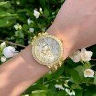 Жіночі годинники з камінням металеві Geneva золотисті (018) - зображення 2