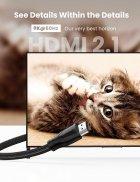 Кабель відео Ugreen HDMI 2.1 8K 3D 48Gbps HDR 1М Black (HD140) - зображення 2