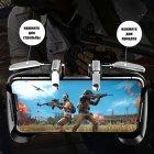 Игровые контроллеры Marpiel AK16 Black (геймпад триггеры курки для смартфона для PUBG) + напальчники - изображение 3