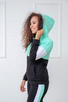 """Спортивный костюм Fashion Girl """"Decart"""" 46-48 черный с мятный - изображение 2"""