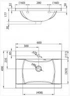 Раковина RAVAK CLASSIC 600 XJD01160000 - изображение 4
