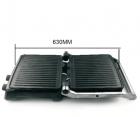Електричний гриль прес DSP KB-1036, 2000Вт, Відкривається на 180 градусів, 2 регулювання температури пластин, гриль прижимний, Сріблястий - зображення 3
