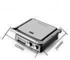 Електричний гриль прес DSP KB-1036, 2000Вт, Відкривається на 180 градусів, 2 регулювання температури пластин, гриль прижимний, Сріблястий - зображення 5
