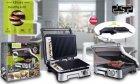 Електричний гриль прес DSP KB-1036, 2000Вт, Відкривається на 180 градусів, 2 регулювання температури пластин, гриль прижимний, Сріблястий - зображення 8