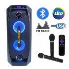 Акустическая система караоке Temeisheng TMS-802 BT\SD\USB 2 Беспроводных микрофона, Светомузыка, Мощность 250 - изображение 1