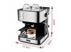 Кофемашина DSP ESPRESSO COFFEE MAKER KA3028 напівавтоматична з капучинатором для будинку - зображення 2