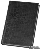 Недатированный ежедневник Economix Croco А5 обложка  Балакрон на 320 страниц Черный (21718-01) - изображение 1