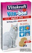Мультивитаминный комплекс Vitakraft Vita-Bon Best Age для кошек старше 7 лет таблетки 31 шт (4008239240392) - изображение 1