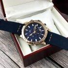 Наручний годинник Megalith 8086M Blue-Cuprum чоловічі кварцові + коробка брендована - зображення 5