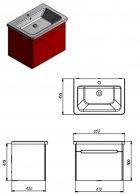 Тумба Juventa TIVOLI TV-65 white с умывальником Soft 65 - изображение 2