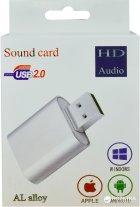 Адаптер Dynamode USB C-Media 108 7.1 каналов, алюминий Серебристая (USB-SOUND7-ALU silver) - изображение 4