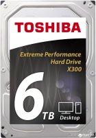 "Жорсткий диск Toshiba High-Performance X300 6TB 7200rpm 128MB HDWE160UZSVA 3.5"" SATA III - зображення 1"