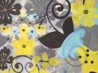Шторка для ванной KORNEL Цветы 180х180 KL-41 - изображение 1