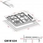Варильна поверхня газова WEILOR GM W 634 BL - зображення 12