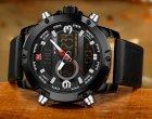 Чоловічі спортивні кварцові годинники Naviforce Kosmos Black NF9097 - зображення 8