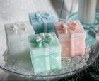 Свічка ароматизована Rak 75/75/80-090 Подарунок 8 см Біла (5901955040071) - зображення 1