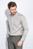 Рубашка классическая светлая Time of Style 333F013 XXXL Серый - изображение 2