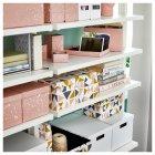 Коробка з кришкою IKEA TJENA 18x25x15 см рожева 004.038.17 - зображення 6