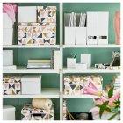 Коробка з кришкою IKEA TJENA 18x25x15 см біла 103.954.21 - зображення 7