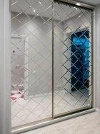 Зеркальная плитка UMT 100х100 мм фацет 15 мм серебро (ПФС 100-100) - изображение 9