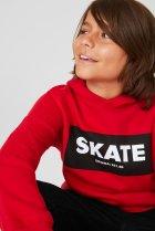 Толстовка с капюшоном для мальчика C&A 158-164 размер красная 2099217 - изображение 2