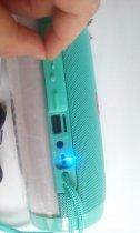 Портативная акустическая колонка T&G с LED-подсветкой и шнурком для переноски Bluetooth 10Вт Бирюзовая (TG157stereo-05) - изображение 5