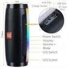 Портативна акустична колонка T&G з LED-підсвічуванням і ремінцем для перенесення Bluetooth 10Вт Чорна (TG157stereo-01) - зображення 7