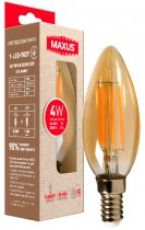 Світлодіодна лампа MAXUS C37 FM 4W 2200K 220V E14 Amber (1-LED-7037) - зображення 1