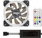 Комплект кулерів Aigo DR12 RGB 120 мм 3 в 1 з пультом керування Black (PT-3316) - зображення 3