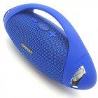 Беспроводная аккумуляторная колонка Bluetooth акустика FM MP3 AUX USB Hopestar H37 синяя - зображення 1