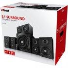 Акустична система TRUST Vigor 5.1 Surround Speaker System for PC black - зображення 5