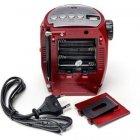 Портативна колонка радіо караоке MP3 USB Golon RX-678 Red - зображення 6