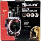Портативна колонка радіо караоке MP3 USB Golon RX-678 Red - зображення 7