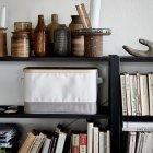 Коробка з кришкою IKEA RABBLA 25x35x20 см коричнева бежева 603.481.25 - зображення 4