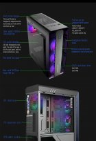 Корпус GameMax MoonLight FRGB Black - зображення 15