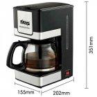 Капельная кофеварка для дома DSP Kafe Filter KA 3024 - изображение 6