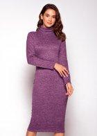 Трикотажное платье футляр ENME 09081-600 L Фиолетовый - изображение 8
