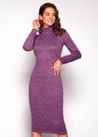 Трикотажное платье футляр ENME 09081-600 L Фиолетовый - изображение 10