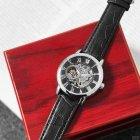 Наручные часы Forsining 8099 Black-Silver-Black мужские механические + подарочная коробка - изображение 4