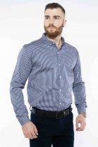 Рубашка в полоску Time of Style 511F054 XXXL Темно-синий/белый - изображение 1
